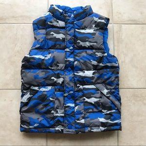 Gymboree Boys L(10-12) camo puffer vest
